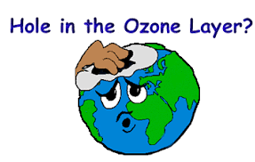 Earth's depleting ozone layer