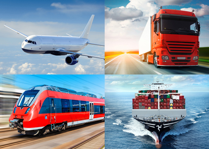 Different modes of transport